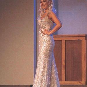 Sequin pageant dress Tony Bowls